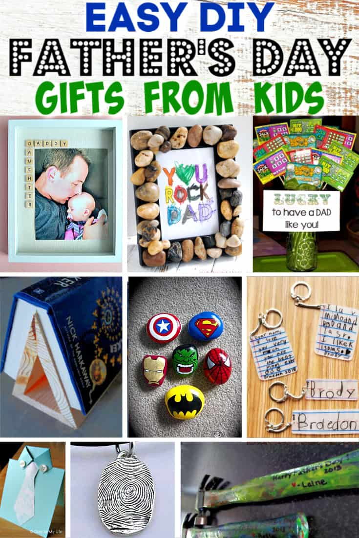 Easy DIY Father's Day gift crafts from kids.