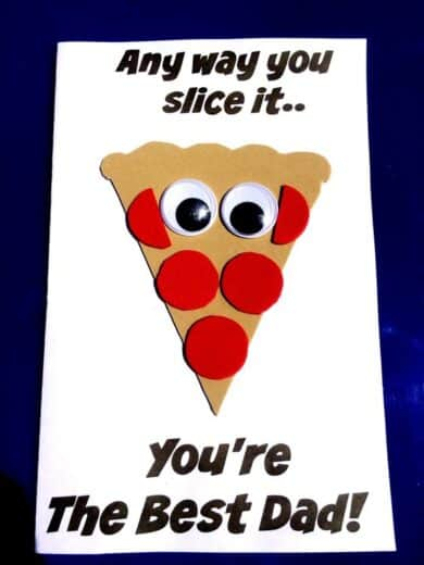 DIY Father's Day Pizza card kids can craft