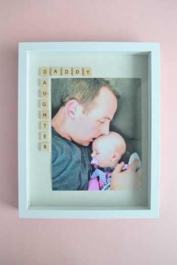 DIY Father's day Daddy Daughter Framed picture keepsake.