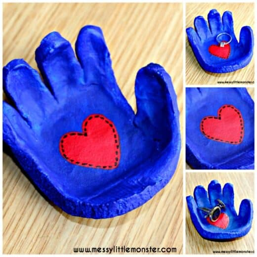 Easy DIY Father's Day salt dough gift kids craft for Dad