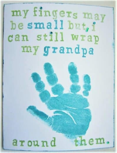 DIY Fathers day Gift Idea For Grandpa using hand prints from toddler or baby