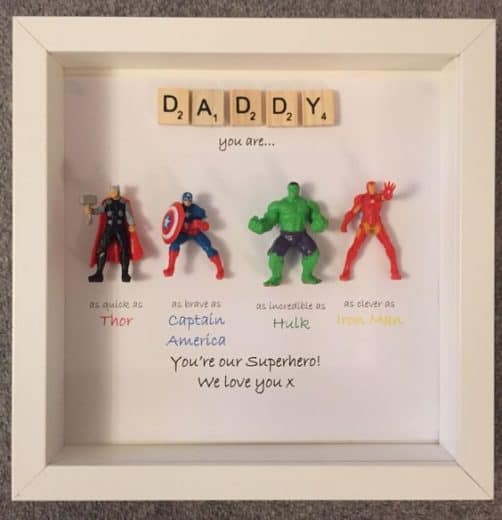 DIY Marvel keepsake Fathers day gift