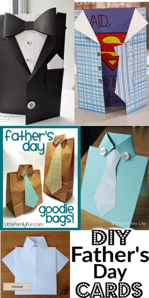 Easy DIY Fathers Day card crafts kids can make