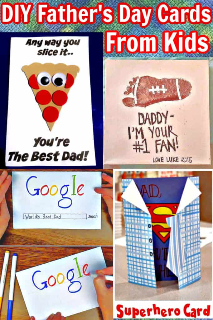 Easy Unique DIY Fathers Day card crafts from kids