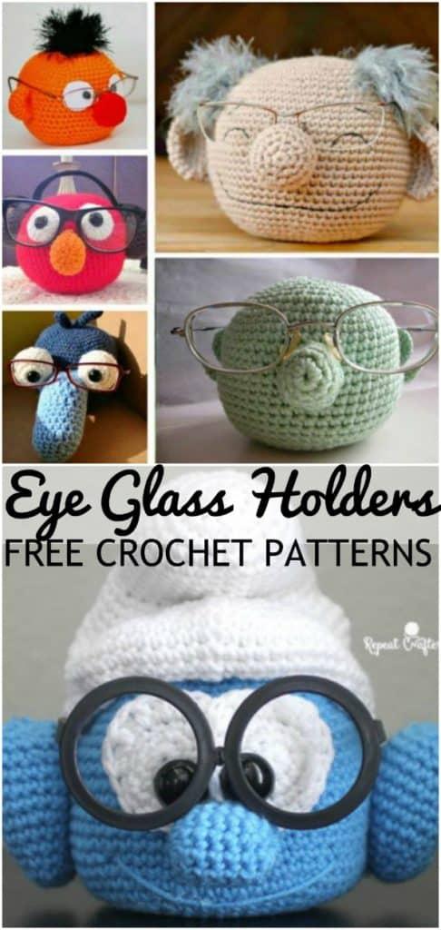 DIY crochet eyeglass holder Fathers Day craft gift