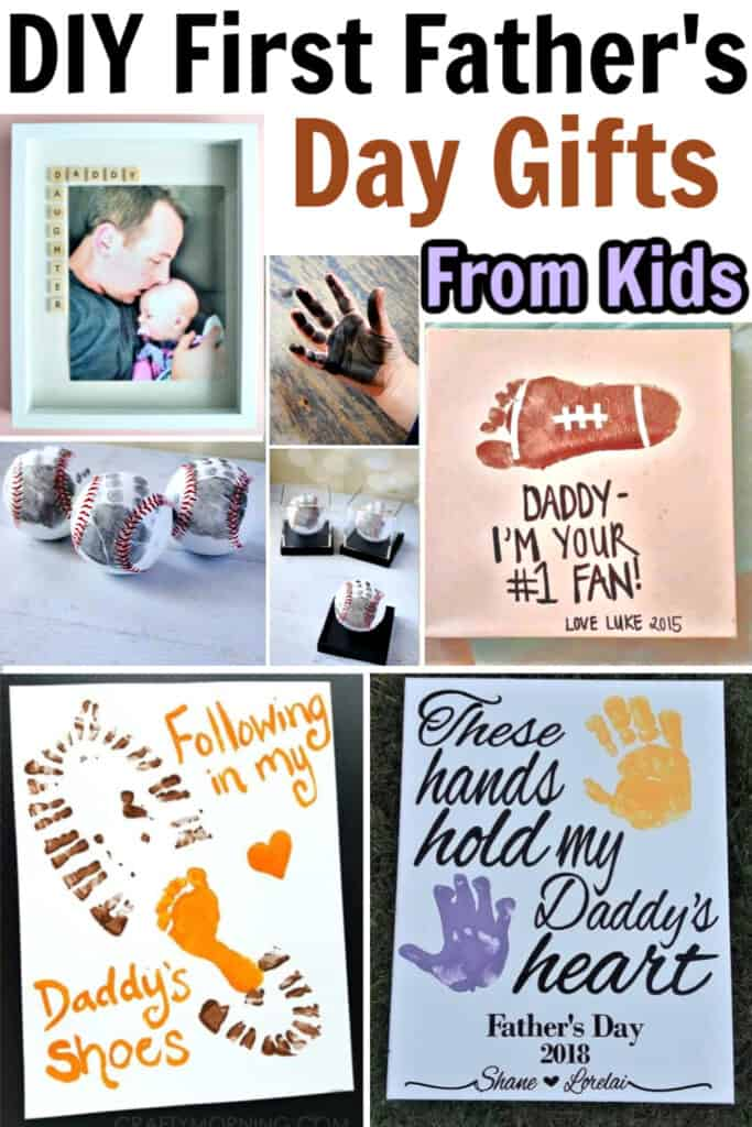 First Father's Day Gift Ideas from kids DIY #Gifts