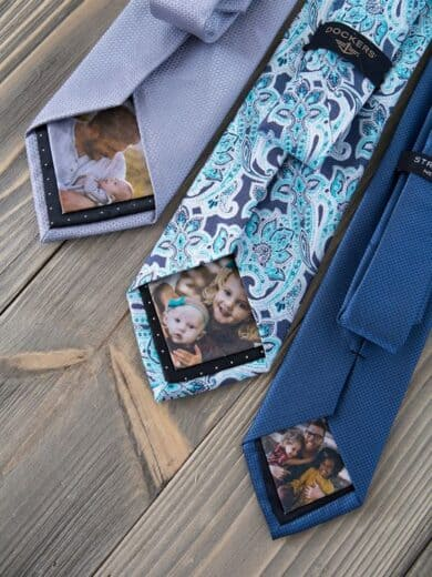 DIY Photo Tie. Fathers Day Gift ideas from kids and wife.