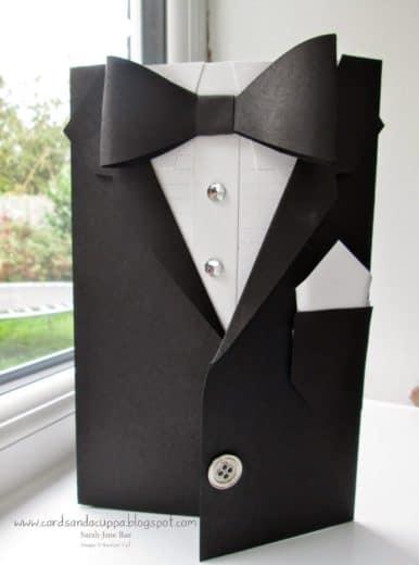 DIY Tuxedo card idea for FathersDay