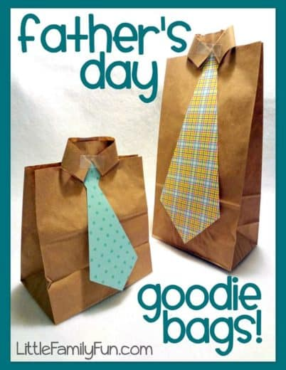 Easy DIY Father's Day Gift Bag craft kids can make.