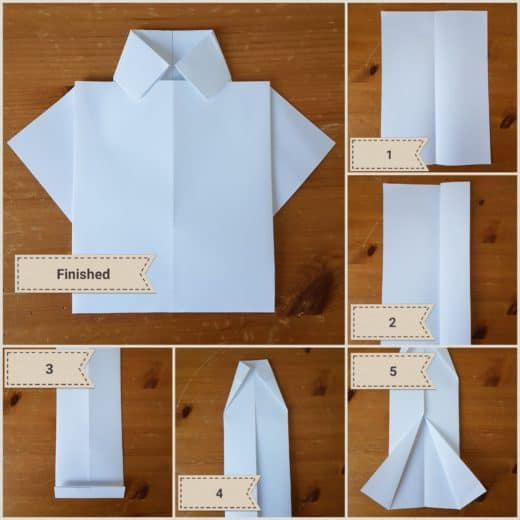 DIY Fathers Day Origami shirt card