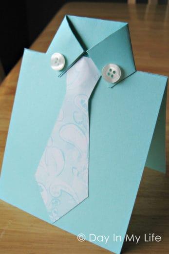 Easy DIY Fathers Day card craft idea