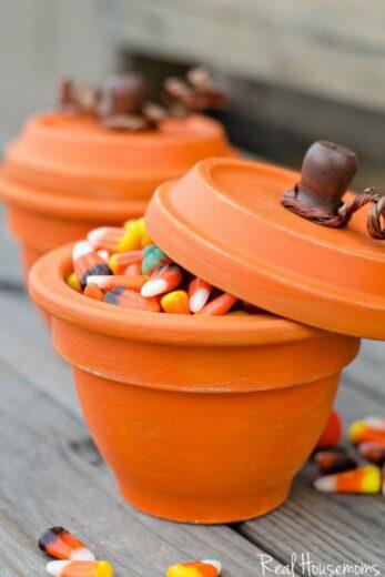 Flower Pot Pumpkins Craft