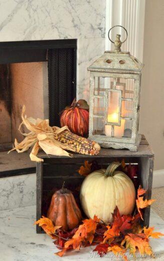 Wood Crates and Pumpkin Fall Decor