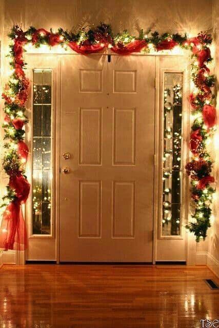 Easy Christmas Decoration Ideas Garland Doors