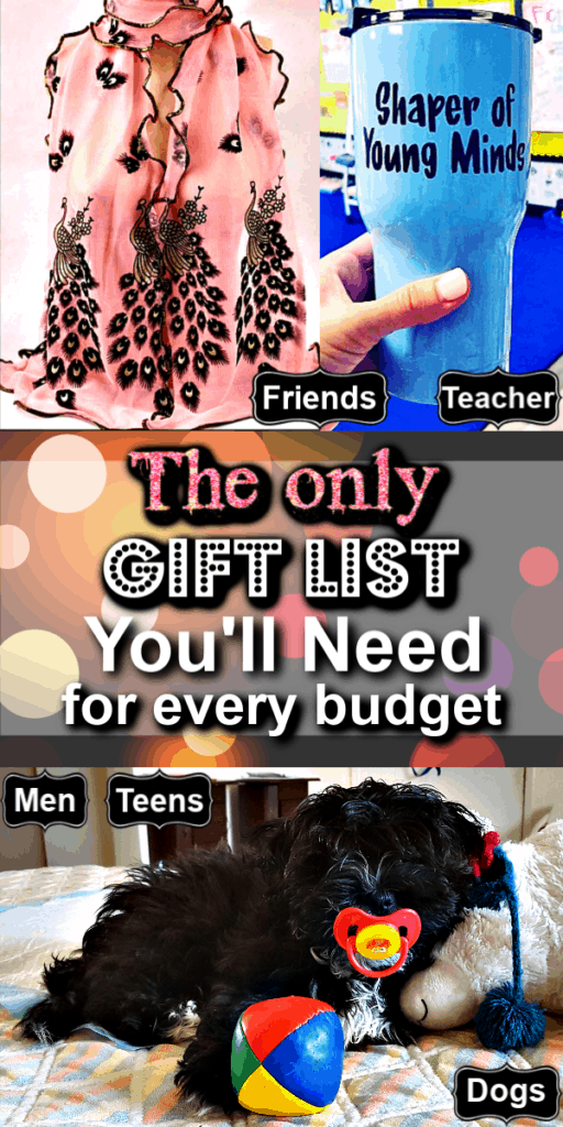 The Ultimate List of Gift Ideas For Every Budget They'll Love and Use Forever / Teachers gifts / Boyfriend Gifts / Christmas Gifts / Budget / DIY Gifts / Men / Friends / Co workers / Neighbors / Kids / Health Conscious / Beauty Lover / College Students / Father / Mother / Anniversary / Grandparents / Pets / Dogs / Cheap Gifts