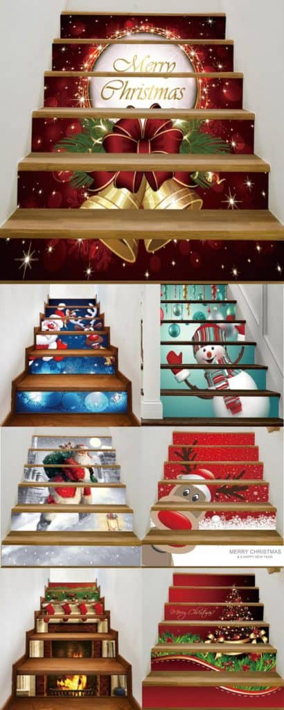 Gift Wrap Stairs for an Easy DIY Christmas Decoration