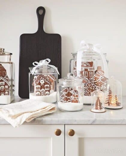 Gingerbread house kitchen Christmas Decor