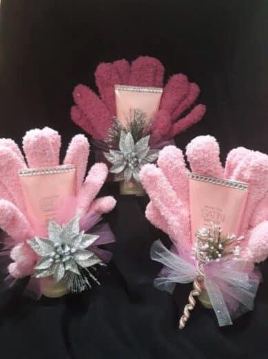Hand Cream and Gloves Basket Idea