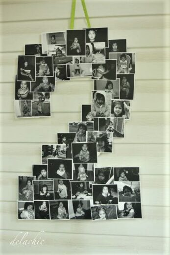 DIY Number Photo Display Idea for Your Grad Party