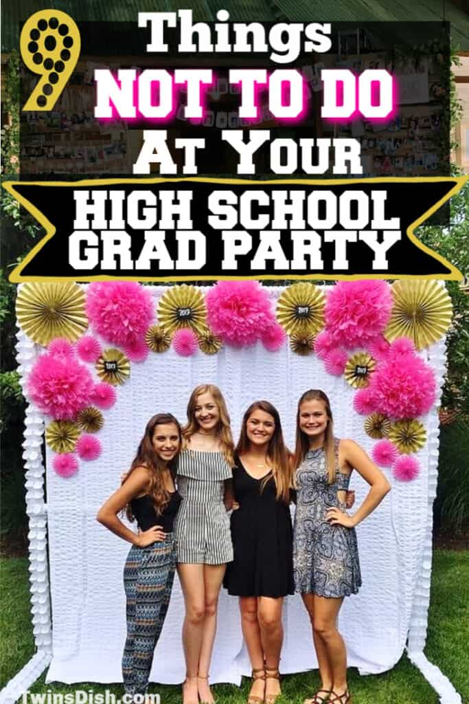 Graduation party ideas for highschool, boys and girls. Tips and DIY for food, snacks, decorations, pictures, and cap decorations on a budget.