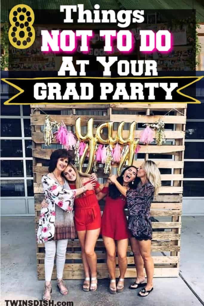 Graduation party ideas for high school and college, boys and girls. Tips and DIY for food, snacks, decorations, pictures, and cap decorations on a budget. #Graduation #GraduationParty #GradParty