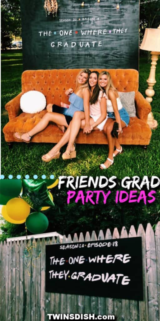Friends tv show photo party backdrop Graduation Party ideas. Easy DIY Graduation Party Decoration Ideas for any budget indoor and outdoor.