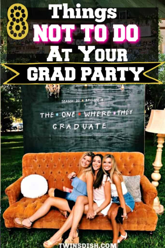 Graduation party ideas for high school and college, boys and girls. Tips and DIY for food, snacks, theme decorations, pictures, entertainment, and cap decorations on a budget.