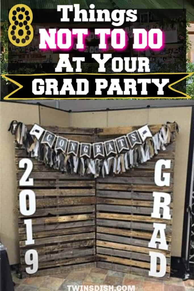Graduation party ideas for high school and college, boys and girls. Tips and DIY for food, snacks, decorations, pictures, entertainment, and cap decorations on a budget.