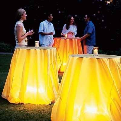 Light up party Tables