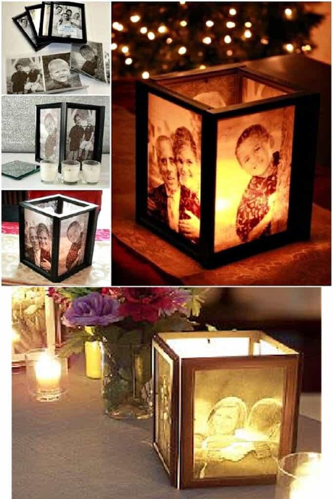 Graduation Party Centerpieces using dollar store photo frames