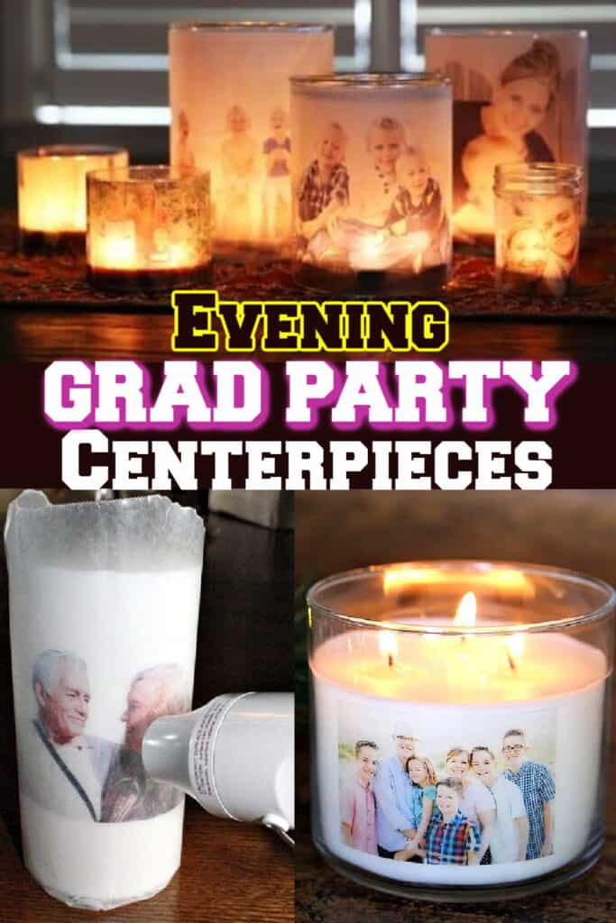 Evening Grad Party Photo Centerpieces
