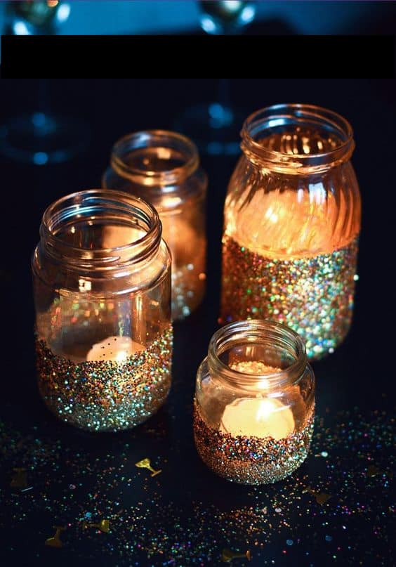 Glamorous Grad Party Centerpieces for evening