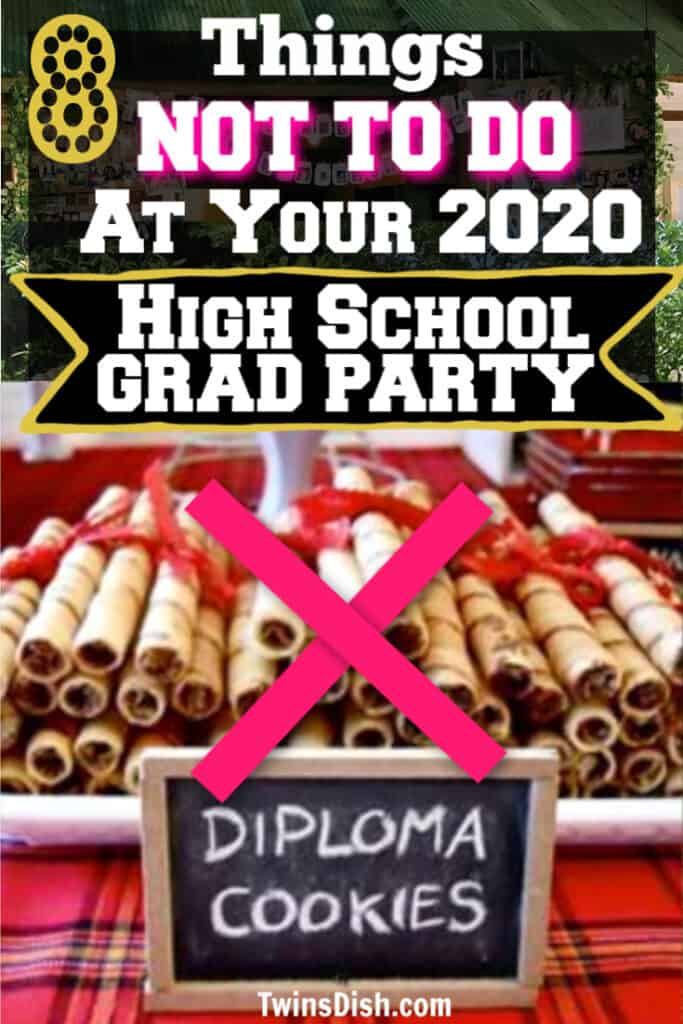 Easy DIY 2020 High School Graduation party decorations and best food ideas.