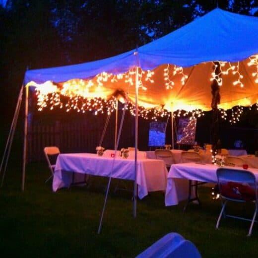 Grad Party Outdoor tent lighting