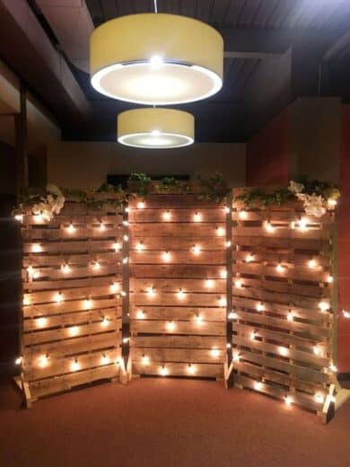 Night time Grad Party Pallet wood photobooth