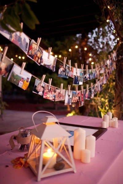 Grad Party photo table displays
