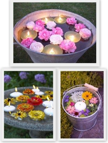 Floating water candles water decoration for pool