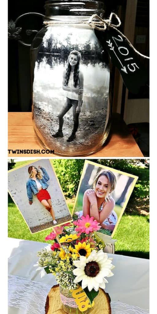 Graduation party picture display ideas for high school and college, boys and girls. Tips and DIY for decorations, pictures, on a budget. #Graduation #GraduationParty #GradParty