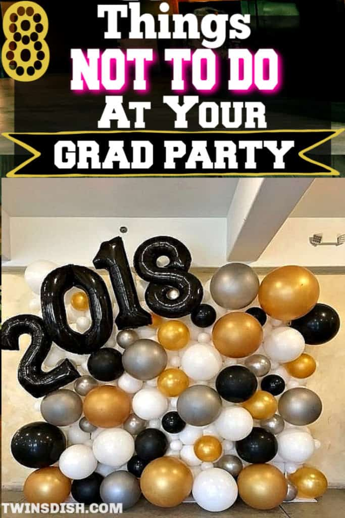 Graduation party ideas for high school and college, boys and girls. Tips and DIY for food, snacks, decorations, pictures, and cap decorations on a budget.