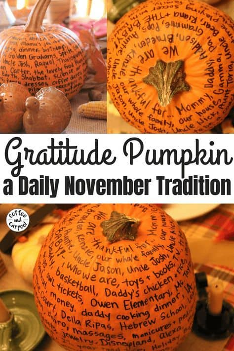 Gratitude Pumpkin Family Kids Tradition