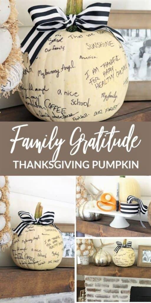 Gratitude Thanksgiving Pumpkin Tradition