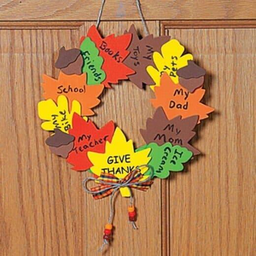 Thanksgiving Gratitude Wreath Kids Craft