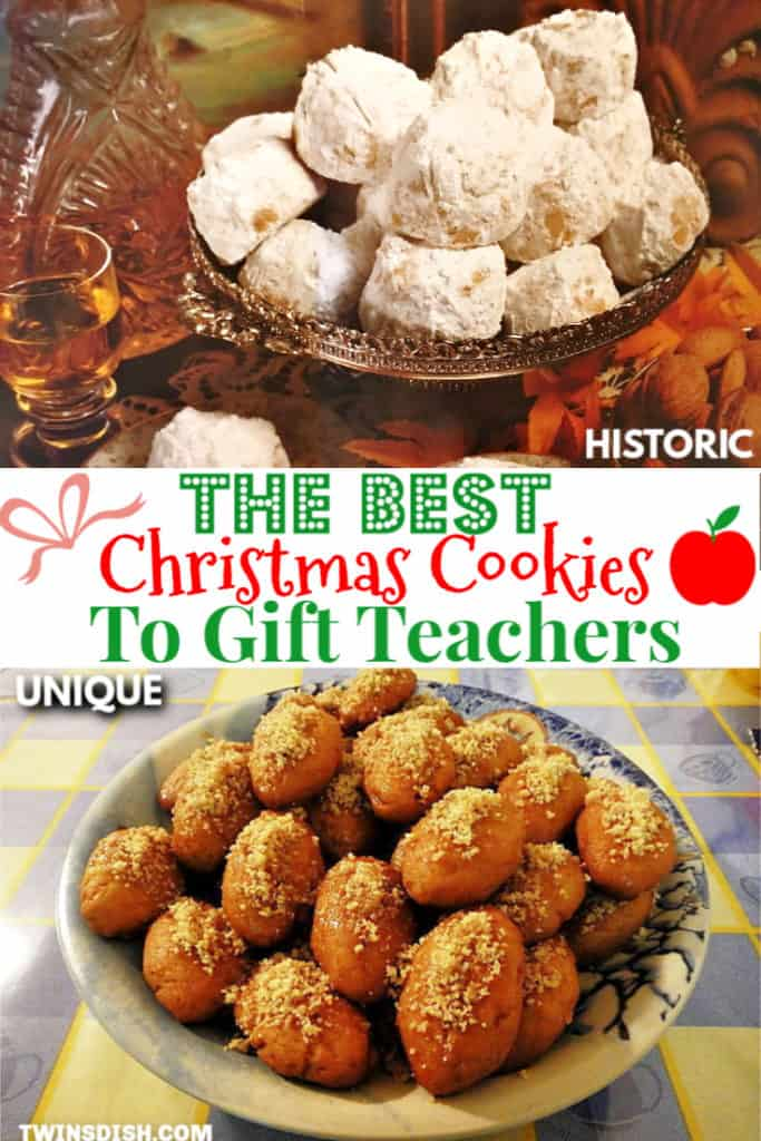 Unique Christmas Cookies that make the best teachers gift. Melt in your mouth recipes.