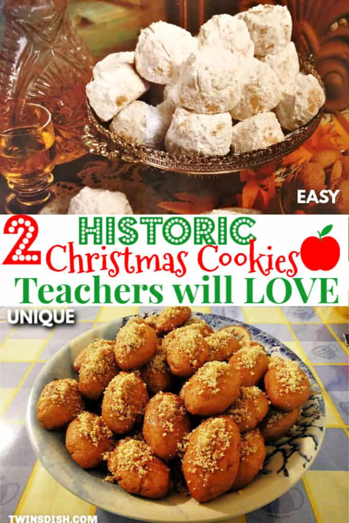 Unique Christmas Cookies that make the best teachers Christmas gift ideas. Melt in your mouth recipes.