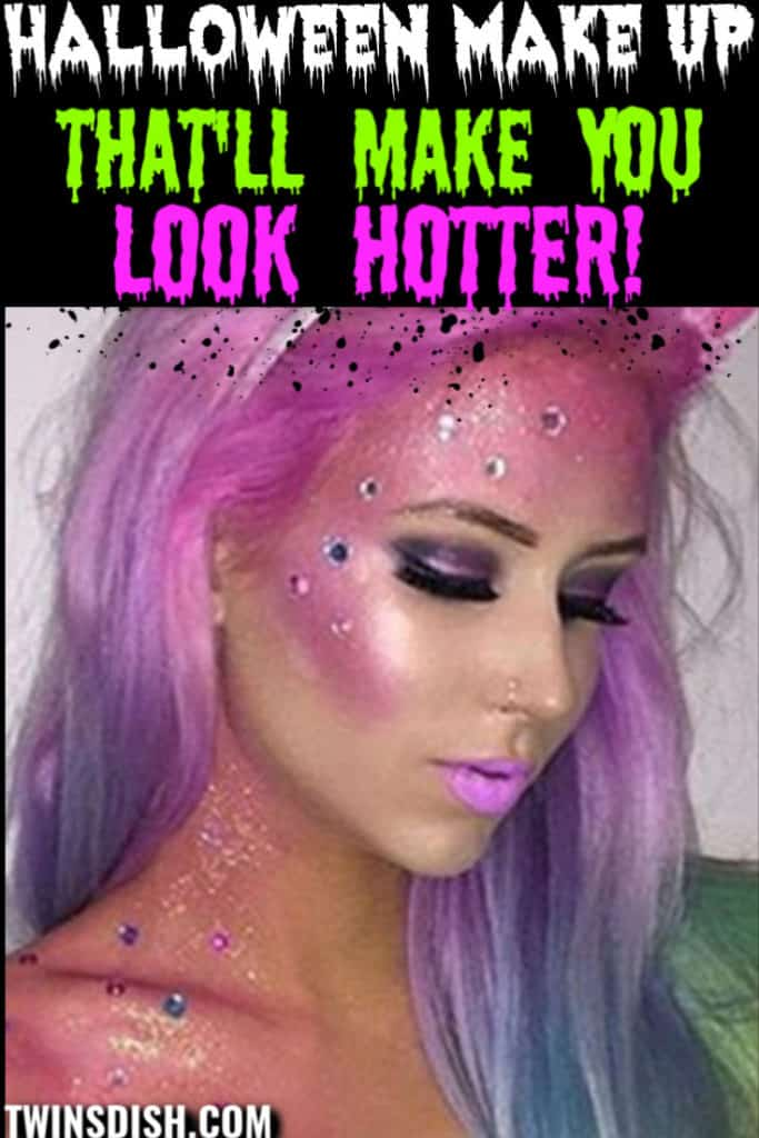Gorgeous DIY Halloween make up costume ideas for women, couples, groups, and college. #HalloweenCostumes #HalloweenMakeUp