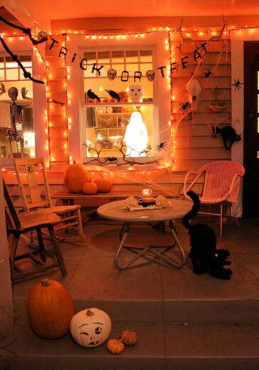 Halloween Fall Front Porch Decor