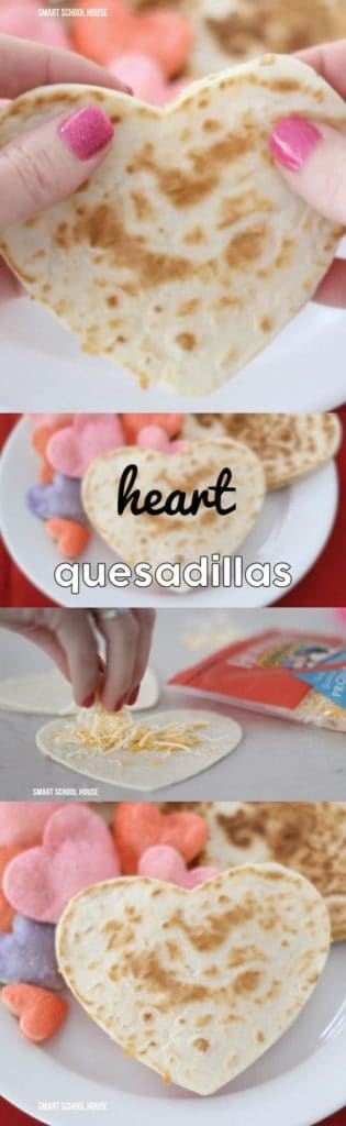 Heart Shaped Quesadilla for Valentines Day dinner. DIY boyfriend gifts.
