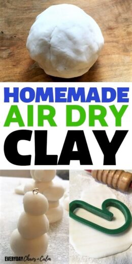 Homemade Air Dry Clay Christmas Ornaments for Kids to Make