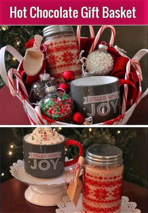 Hot Chocolate Christmas Gift basket idea