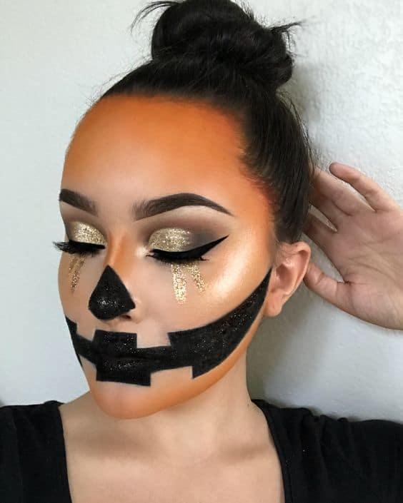 Pretty Glam Pumpkin Make up